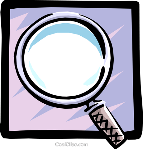 magnifying glass Royalty Free Vector Clip Art illustration busi0947