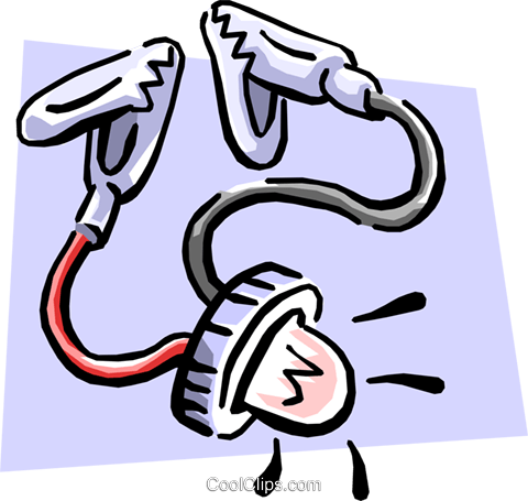 electrical tester Royalty Free Vector Clip Art illustration busi0958