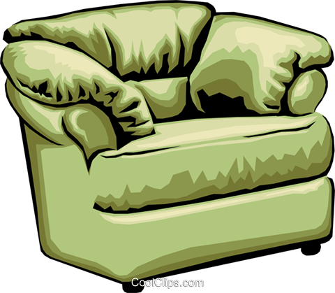comfortable chair Royalty Free Vector Clip Art illustration hous0876