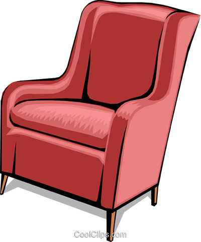 chair Royalty Free Vector Clip Art illustration hous0877