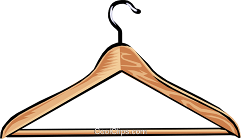 clothes hanger Royalty Free Vector Clip Art illustration hous0878