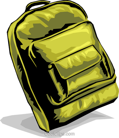 Knapsack Royalty Free Vector Clip Art illustration hous0884