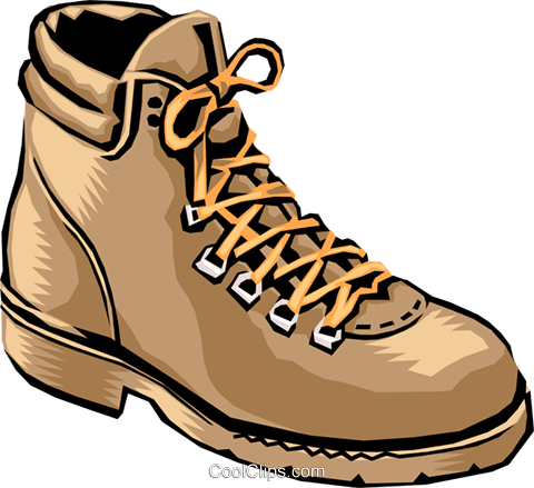 Hiking shoes Royalty Free Vector Clip Art illustration hous0886