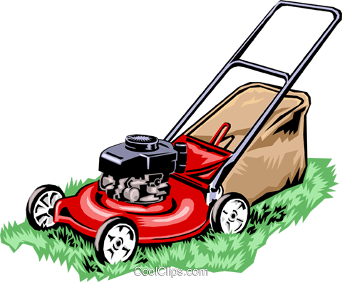 lawn mower Royalty Free Vector Clip Art illustration hous0887