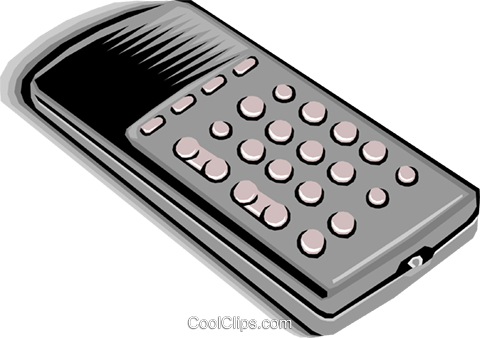 remote control Royalty Free Vector Clip Art illustration hous0894
