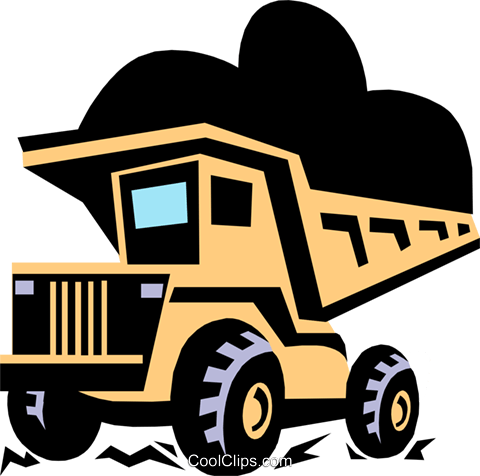 dump truck Royalty Free Vector Clip Art illustration indu0621