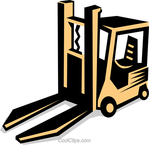 forklift Royalty Free Vector Clip Art illustration indu0622