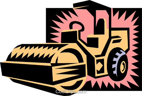 steam roller Royalty Free Vector Clip Art illustration indu0627