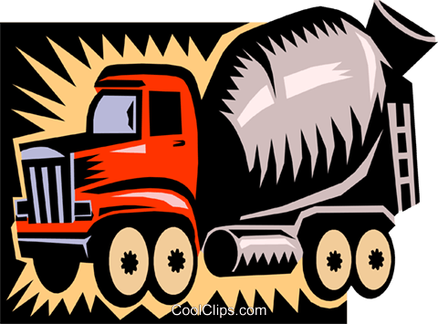 cement truck Royalty Free Vector Clip Art illustration indu0629