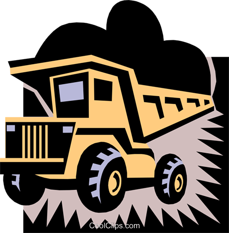 dump truck Royalty Free Vector Clip Art illustration indu0630