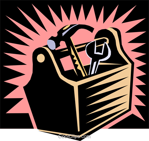 toolbox, industry Royalty Free Vector Clip Art illustration indu0633