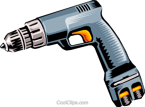 Electric drill Royalty Free Vector Clip Art illustration indu0635
