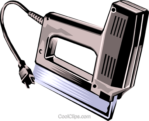 electric stapler Royalty Free Vector Clip Art illustration indu0636