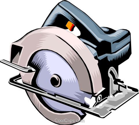 Electric circular saw Royalty Free Vector Clip Art illustration indu0638