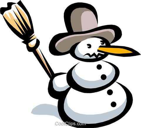 snowman Royalty Free Vector Clip Art illustration natu0624