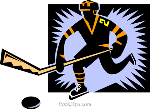 hockey Royalty Free Vector Clip Art illustration peop1743