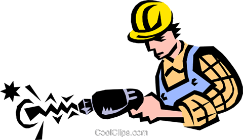 man working Royalty Free Vector Clip Art illustration peop1747