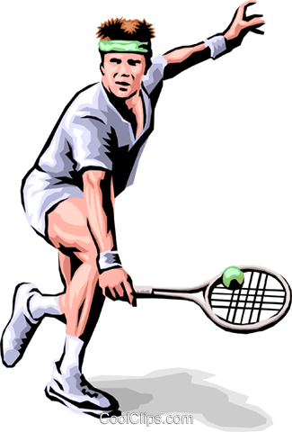 Tennis player Royalty Free Vector Clip Art illustration peop1778