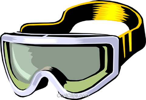 skiing goggles Royalty Free Vector Clip Art illustration spor0184