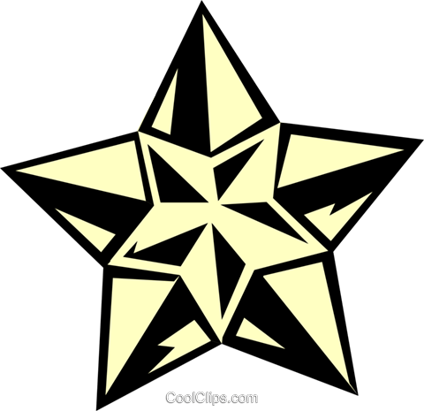 star design Royalty Free Vector Clip Art illustration text1459