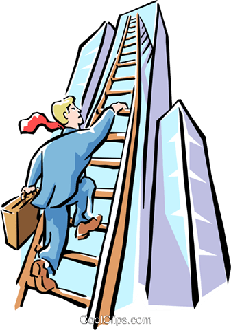 climbing to the top Royalty Free Vector Clip Art illustration cart1550