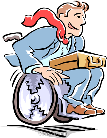 man in wheelchair Royalty Free Vector Clip Art illustration cart1554