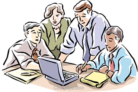 Group of business people Royalty Free Vector Clip Art illustration cart1558