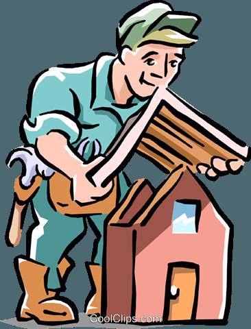 Dachdecker bilder clipart  Dachdecker Installation Dach Vektor Clipart Bild -cart1565 ...
