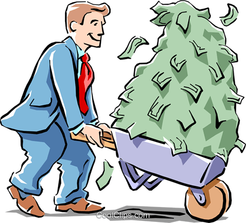 making money Royalty Free Vector Clip Art illustration cart1576