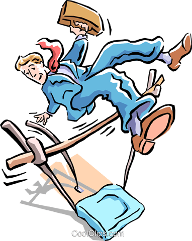 vaulting over obstacles Royalty Free Vector Clip Art illustration cart1586