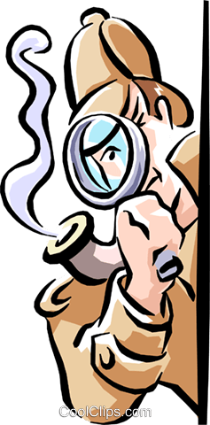 detective Royalty Free Vector Clip Art illustration cart1593