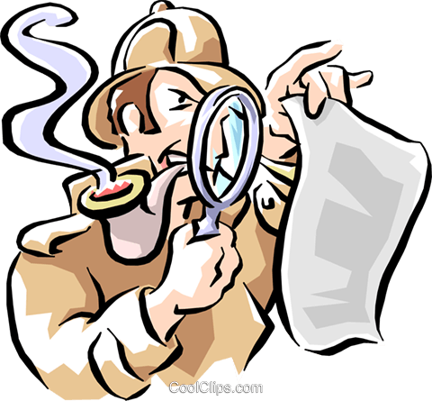 detective Royalty Free Vector Clip Art illustration cart1594