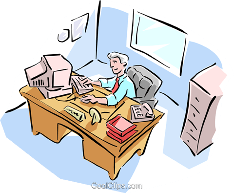 office Royalty Free Vector Clip Art illustration cart1612