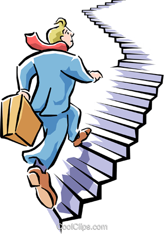 climbing to the top Royalty Free Vector Clip Art illustration cart1613