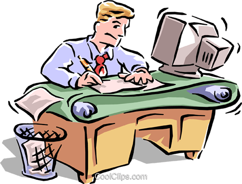 busy office Royalty Free Vector Clip Art illustration ...