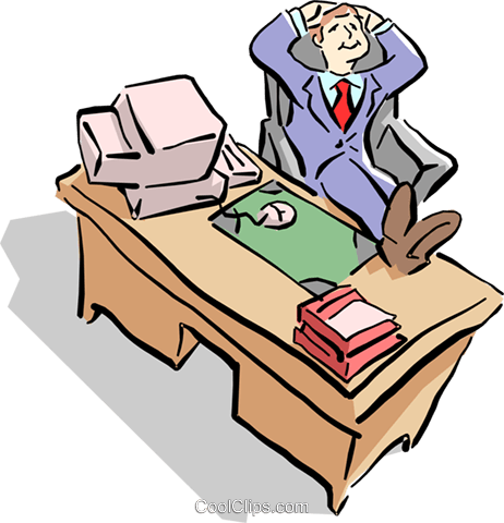 man at the office Royalty Free Vector Clip Art illustration cart1621