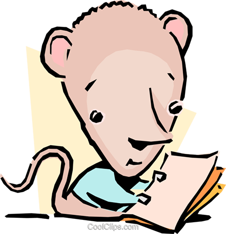 cartoon mouse Royalty Free Vector Clip Art illustration cart1626