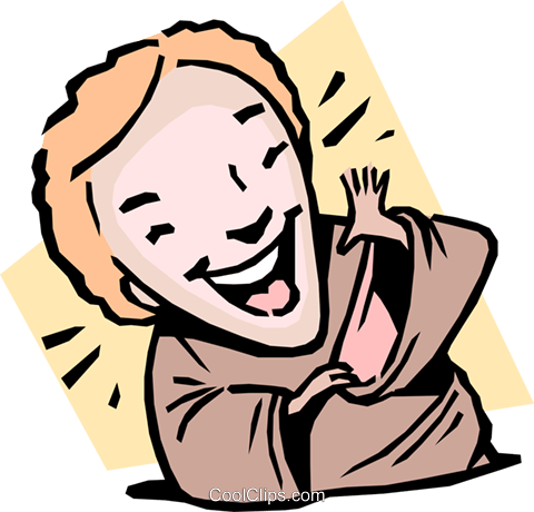 person laughing Royalty Free Vector Clip Art illustration cart1641