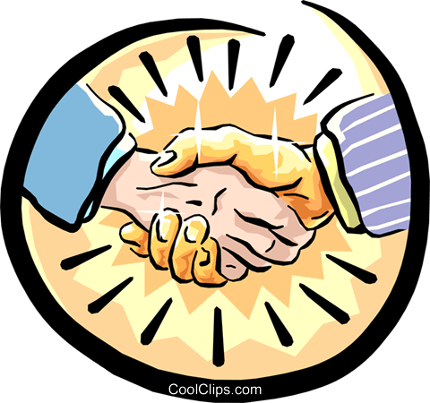 shaking hands Royalty Free Vector Clip Art illustration hand0224