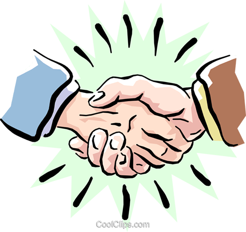 shaking hands Royalty Free Vector Clip Art illustration hand0225
