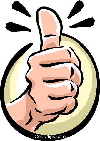 thumbs up Royalty Free Vector Clip Art illustration hand0233