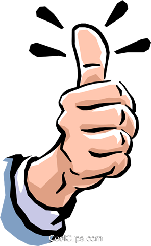 thumbs up Royalty Free Vector Clip Art illustration hand0234