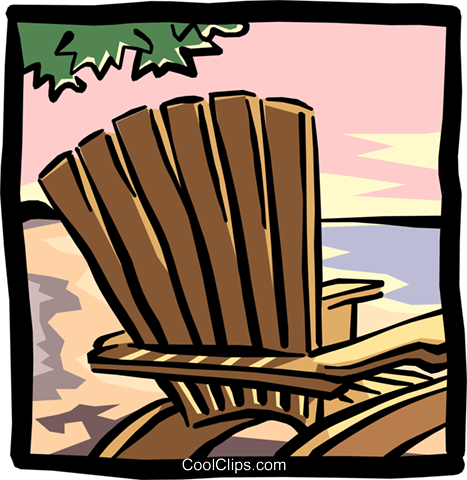 Lounge chair Royalty Free Vector Clip Art illustration hous0906