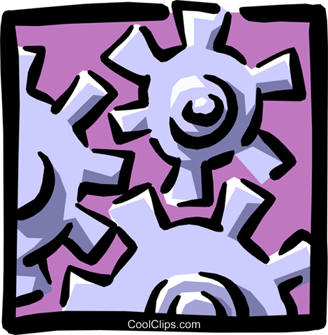 gears Royalty Free Vector Clip Art illustration indu0653