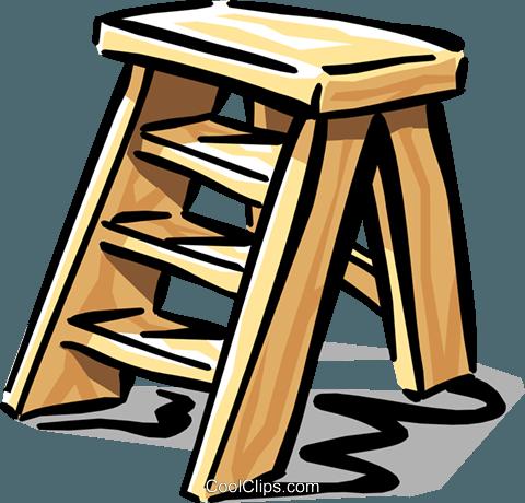 Escalera De Tijera Libres De Derechos Ilustraciones De