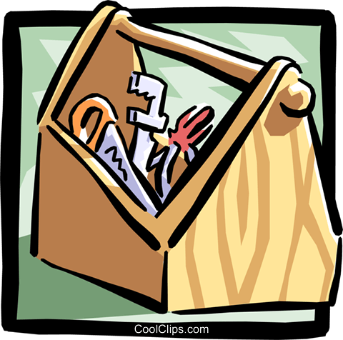 toolbox Royalty Free Vector Clip Art illustration indu0671