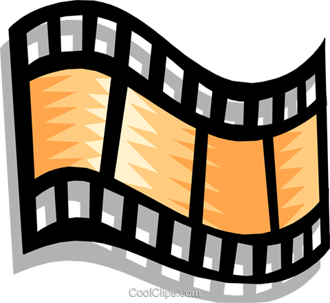 filmstrip Royalty Free Vector Clip Art illustration arts0324