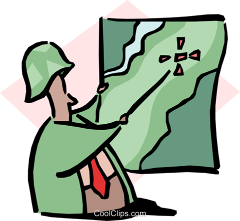 man pointing to map Royalty Free Vector Clip Art illustration cart1674
