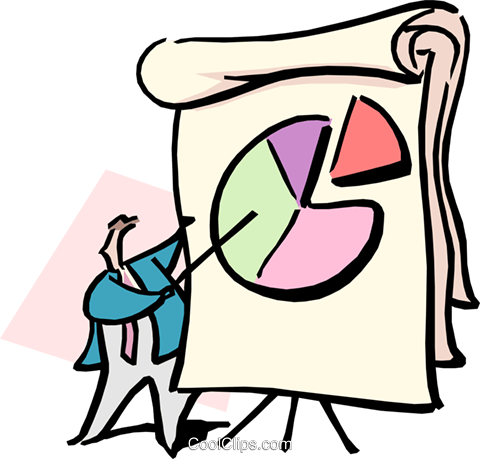 business analysis Royalty Free Vector Clip Art illustration cart1682