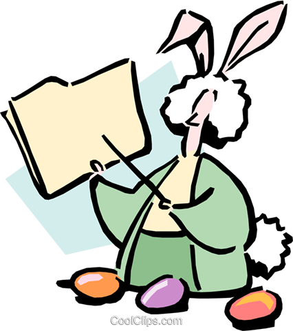 Easter bunny Royalty Free Vector Clip Art illustration cart1689